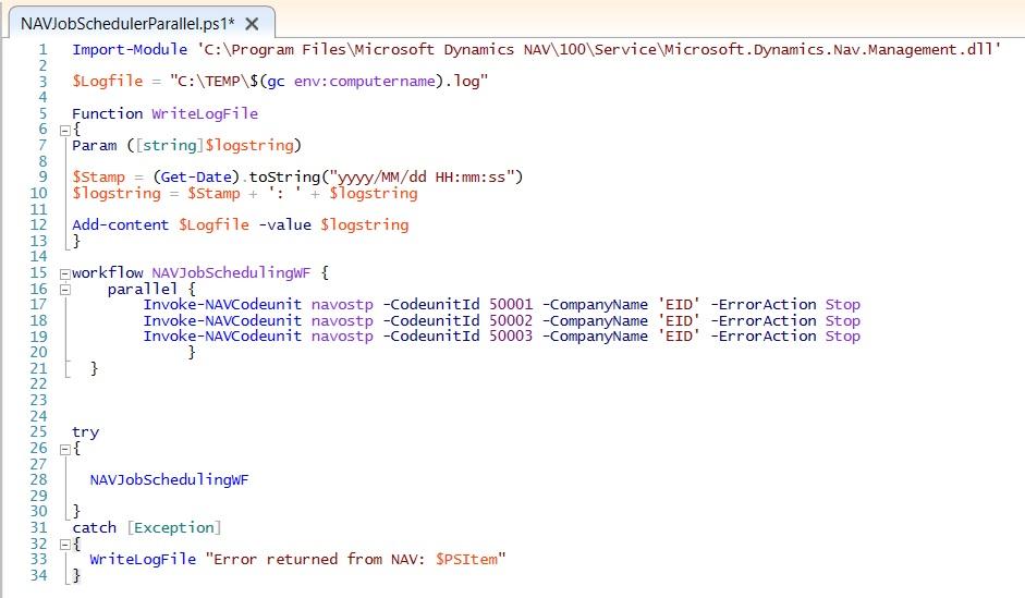 Running Microsoft Dynamics NAV tasks in parallel with