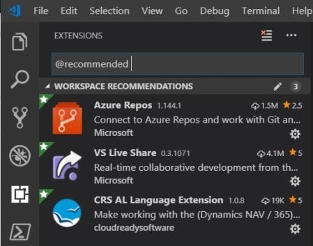Visual Studio Code and team-working: recommending extensions