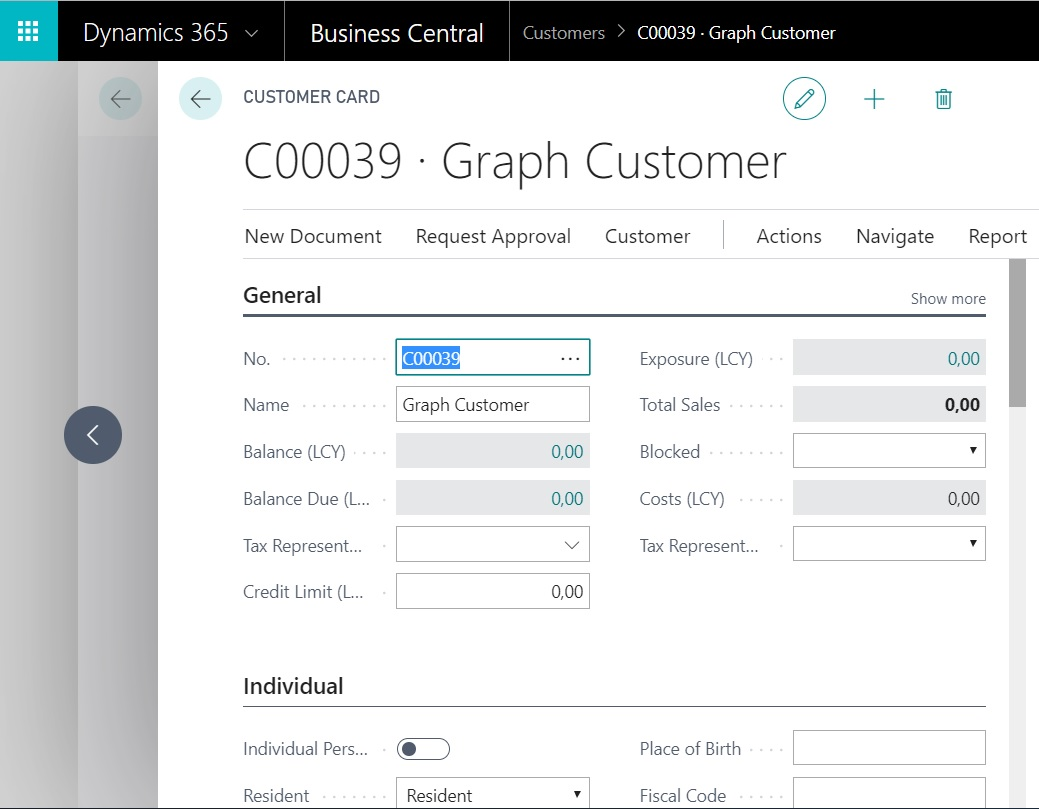 Using Dynamics 365 Business Central APIs in Microsoft Graph