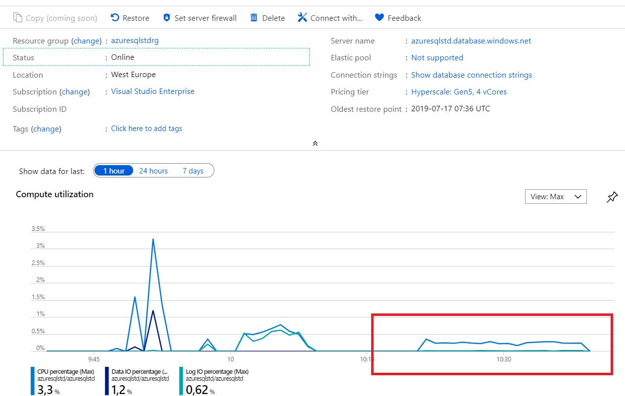 Dynamics 365 Business Central on-premise performances to the